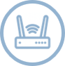 symbolical wifi modem with connection