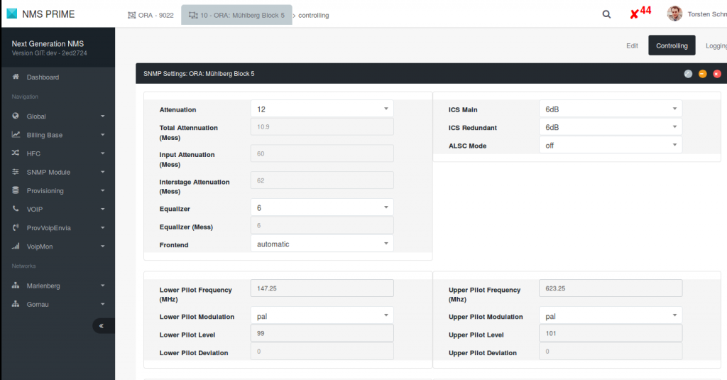 screenshot nms prime control app - map