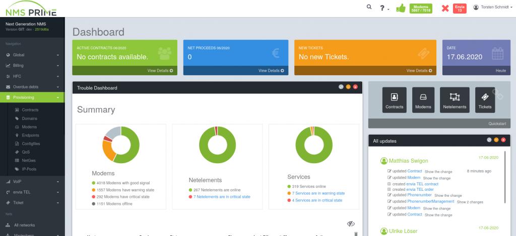 screenshot nms prime dashboard app