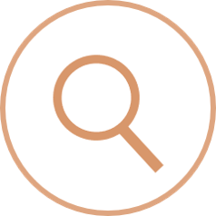 schematic magnifying glass