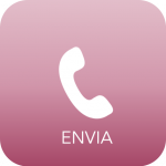 "telephone handset with ""Envia"" writing below"